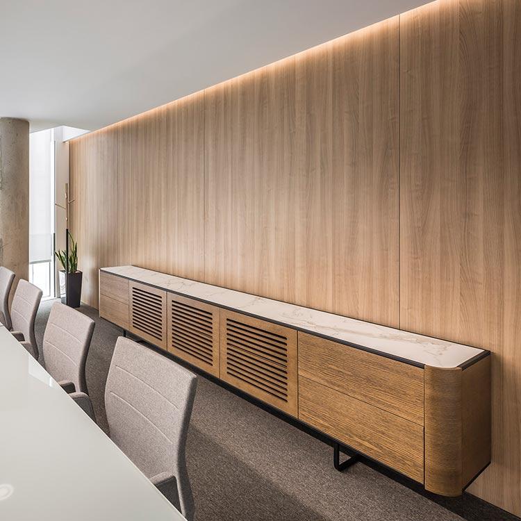 Interior design in office