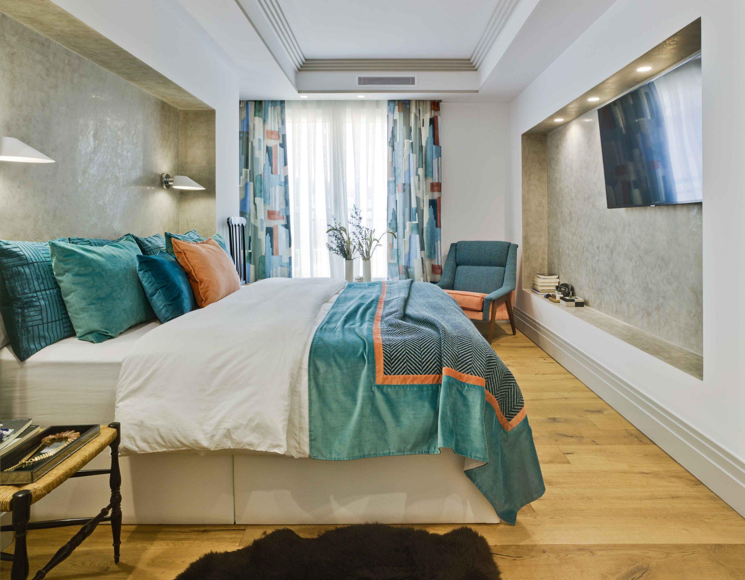 Habitación proyecto interiorismo ecléctico y contemporáneo