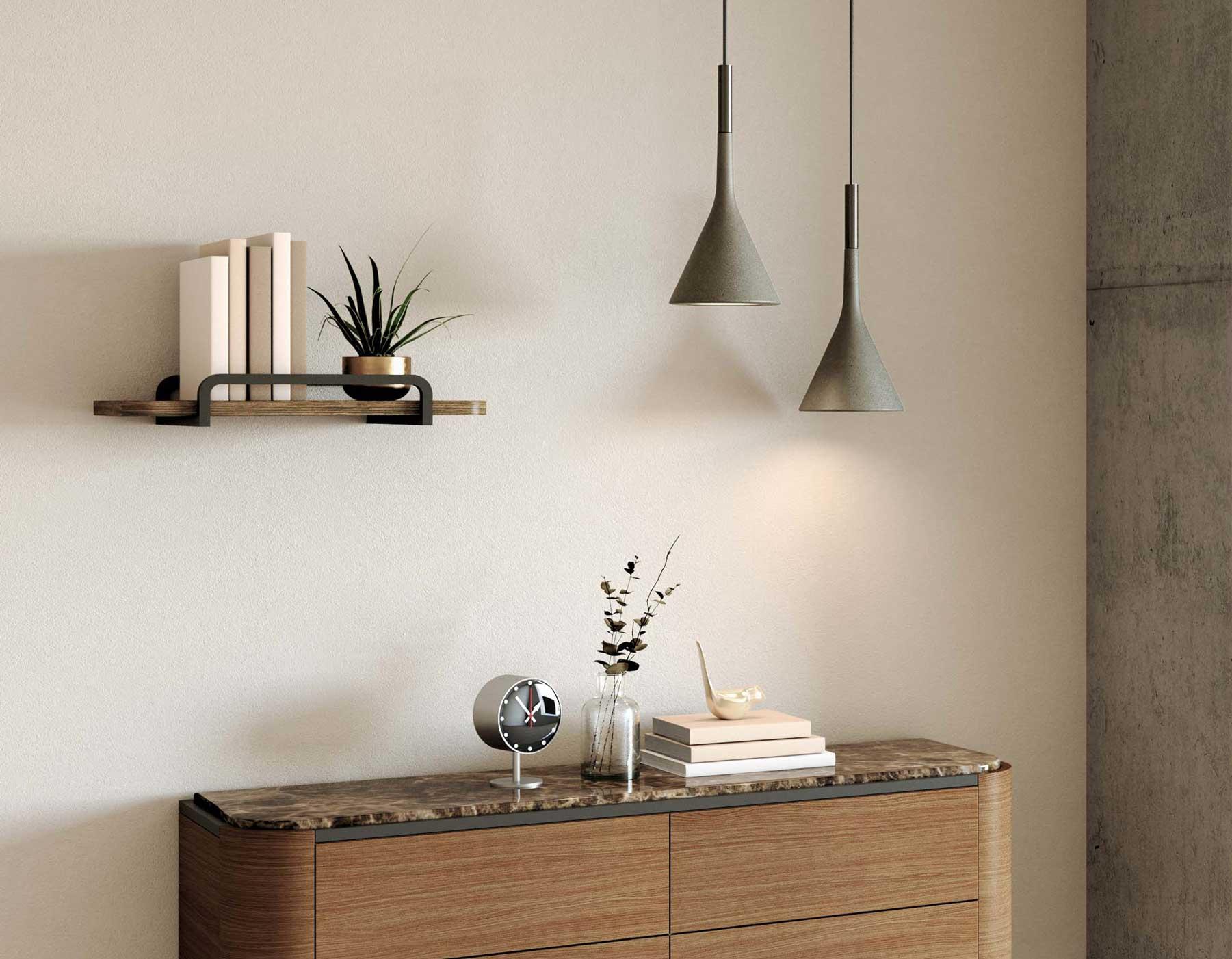 Adara shelves: Art and subtlety in design