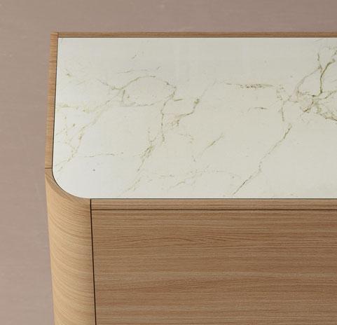 Adara aparador 2 esquinas curvas madera - 2 curverd corners wooden sideboard