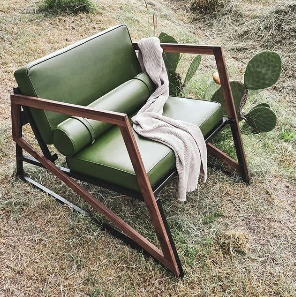 Mobiliario con cuero de cactus