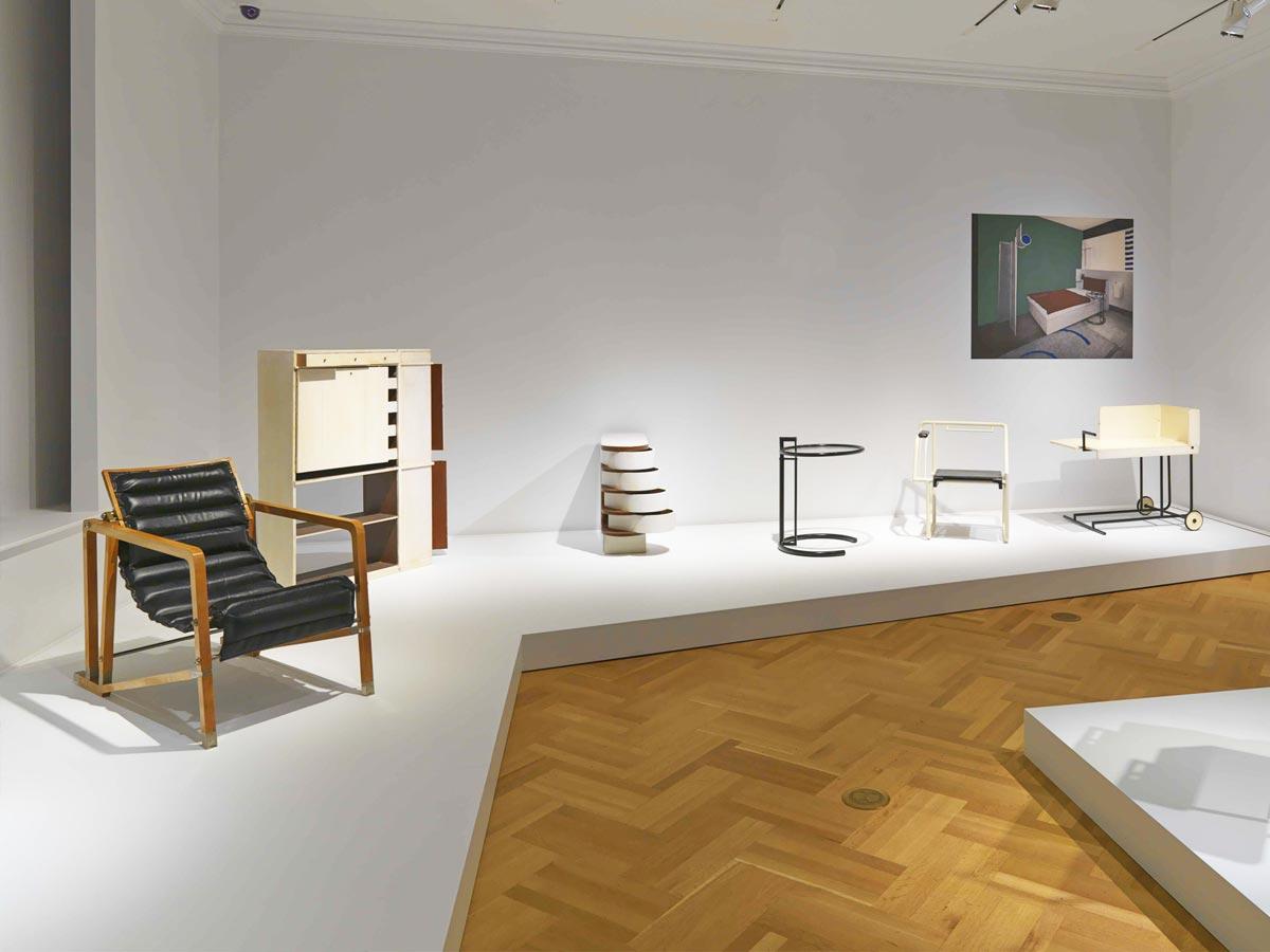 mobiliario eileen gray exposición nueva york
