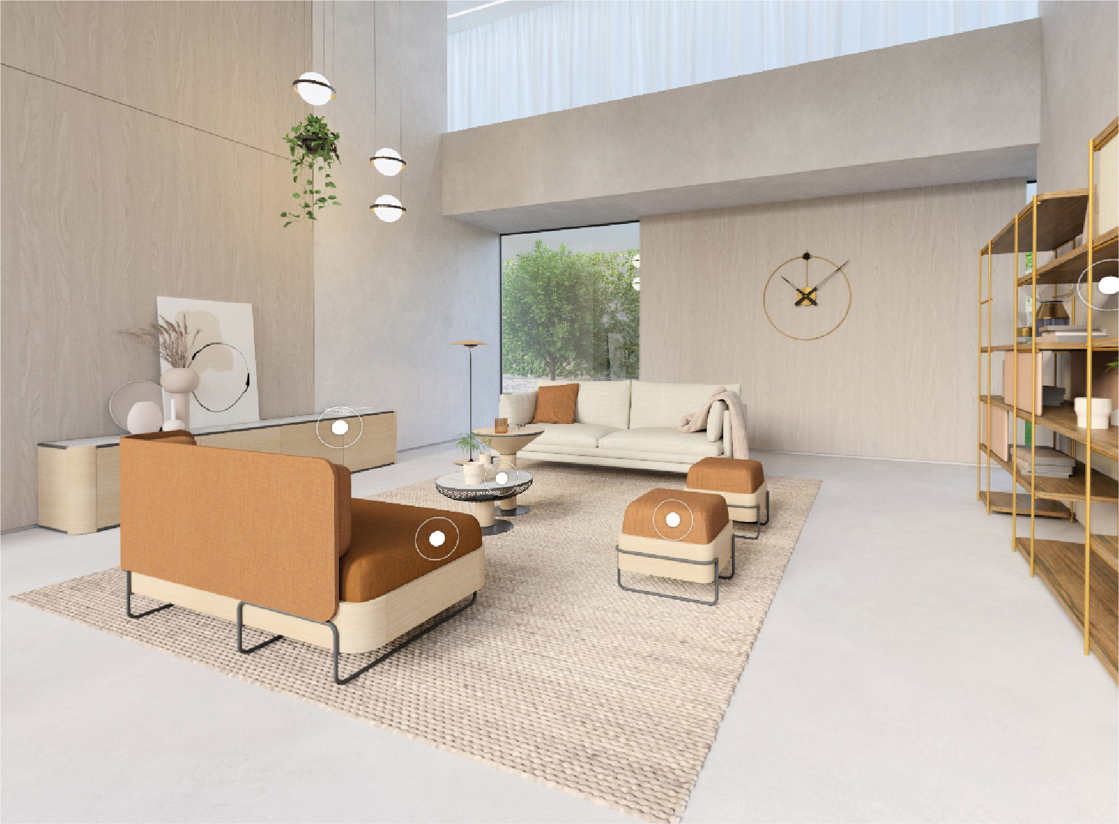 escena salon showroom virtual